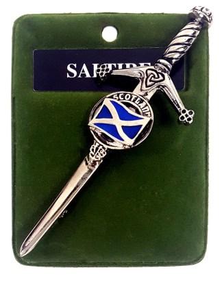 Saltire Kilt Pin