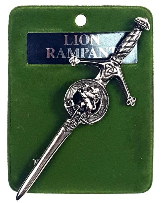 Art Pewter Rampant Lion Kilt Pin