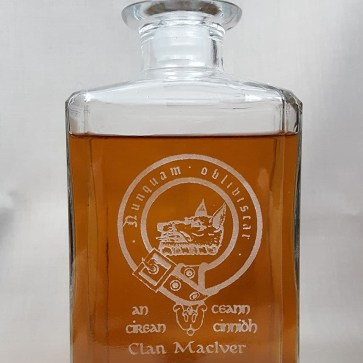 MacIver Clan Crest Decanter