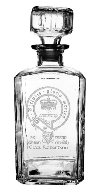 CCD-CL-1764 Robertson Clan Crest Decanter