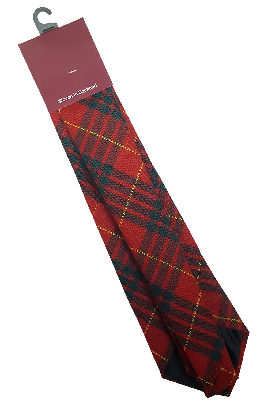 Mens Tie All Wool Made in Scotland Robertson Modern Tartan