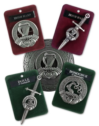 Irish Badges, Brooches, Buckles, and Kilt Pins