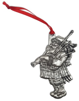 Santa Piper Ornament