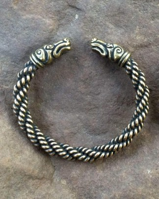 Celtic Greyhound Torc Bracelet