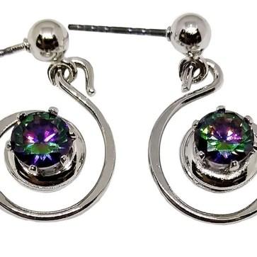 Mystic Crystal Spiral Earrings
