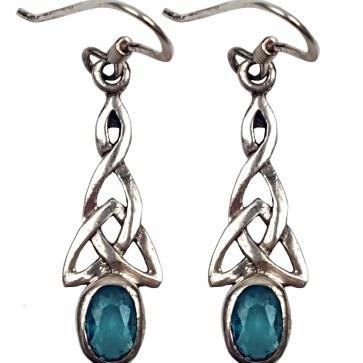 Sapphire Triskle Earrings