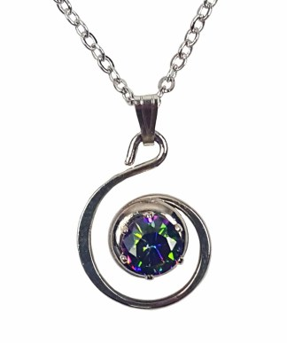 Mystic Crystal Spiral Necklace