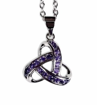 Pretty Purple Triskle Necklace