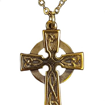 Bronze Celtic Cross Pendant