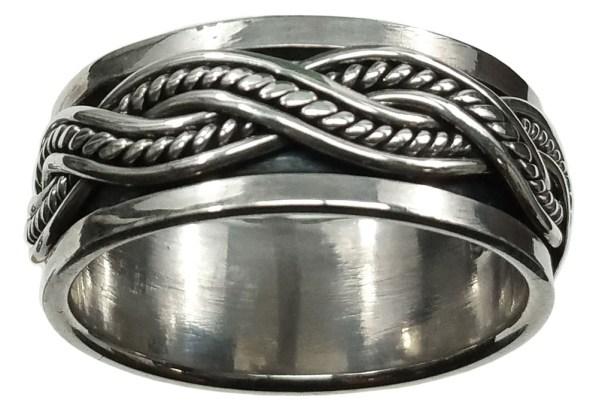 Sterling Silver Celtic Knot Spinner Ring