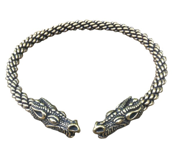 Celtic Dragon Torc Heavy Braid