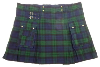 KBWU-CL-1816 Black Watch Homespun Utility Kilt