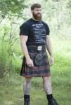 Stewart Black Poly-Viscose Kilt
