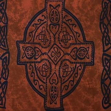 Celtic Sarong Brown Celtic Cross