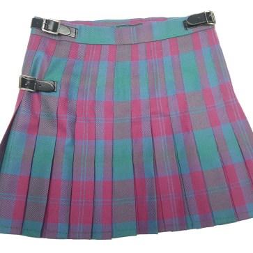 LKSM1-IS-1812 Lindsay Ancient Premium Wool Kilted Mini Skirt