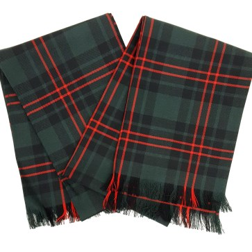 A set of two scarves in the Fife District Modern tartan