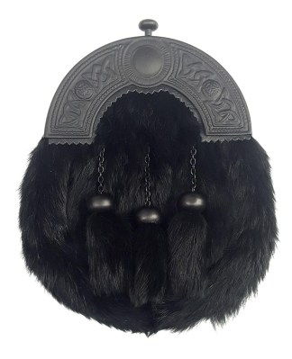 Black Cantle Fur Sporran