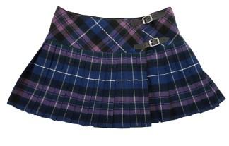 Pride of Scotland Tartan Homespun Kilted Mini Skirt