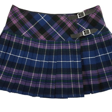 Pride of Scotland Tartan Homespun Kilted Mini Skirt