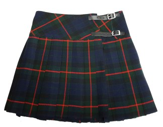 Gunn Tartan Homespun Kilted Mini Skirt