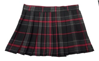 Spirit of Bruce Tartan Poly/Viscose Kilted Mini Skirts