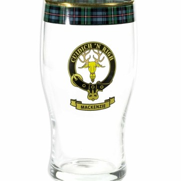 Clan Crest Tartan Pub Pint Glass