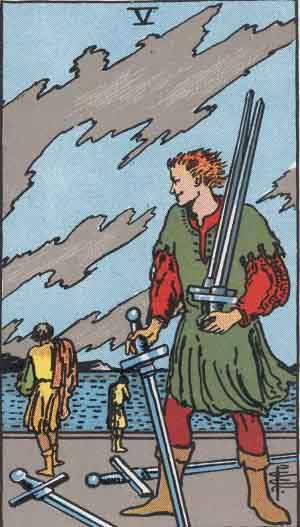 Rider-Waite tarot deck, Five of Swords