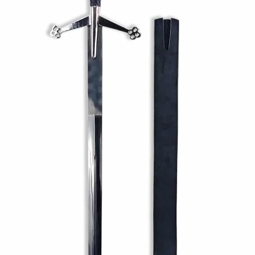 52 Inch Black Standard Wood-Handled Claymore