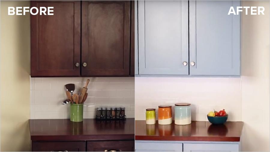 refinishing oak kitchen cabinets small rustic table refinish with kilz max® primer | kilz®