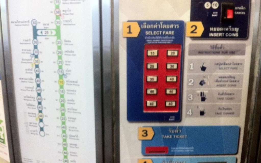Traveling Bangkok's BTS - Ticket machine