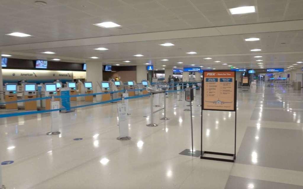 Deserted Sky Harbor International Airport