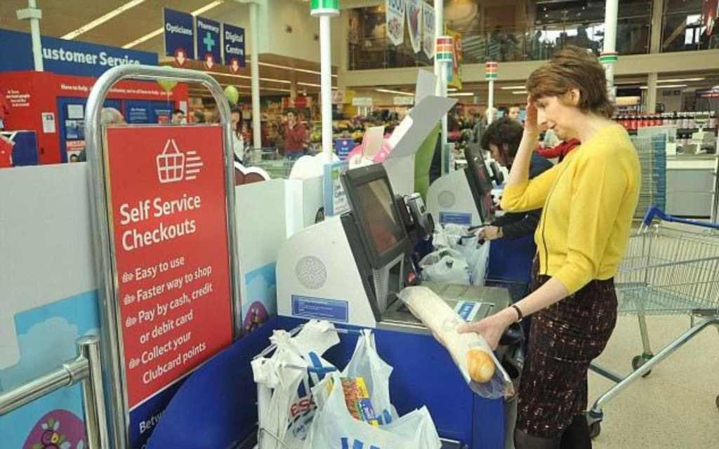 Self checkout in the UK
