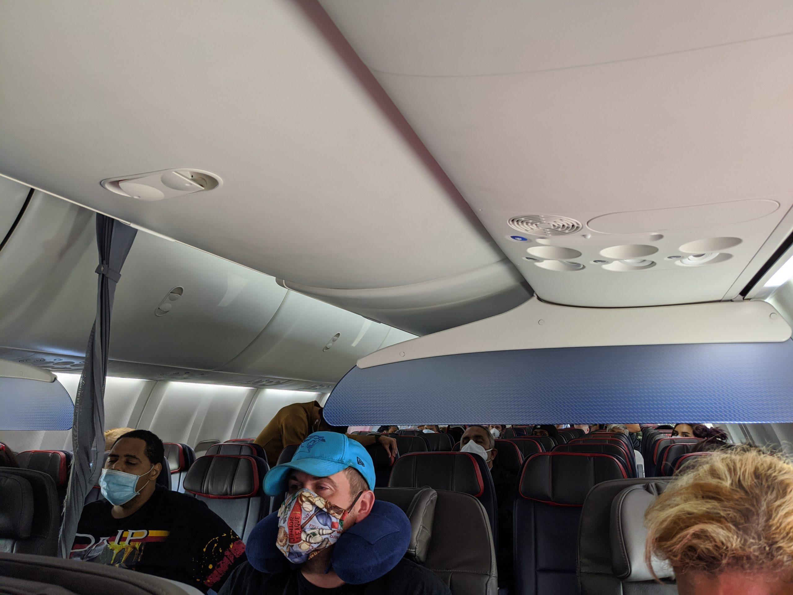 Empty flight to Puerto Vallarta, Mexico during COVID-19 pandemic