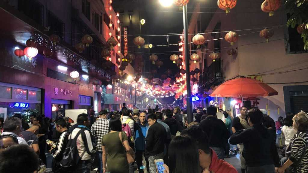 Chinatown in Mexico City, Mexico on Chinese New Year