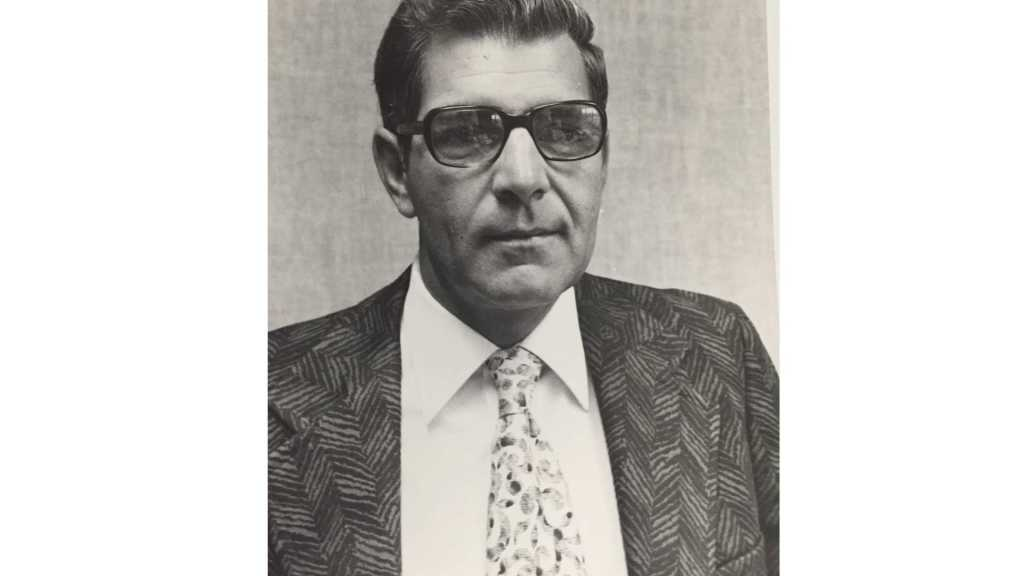 Walter Yuhl in a 1970s suite and tie
