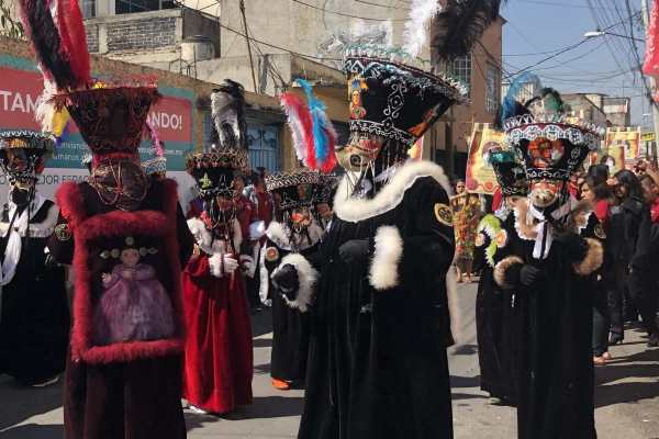 Parade in Xochimilco, Mexico