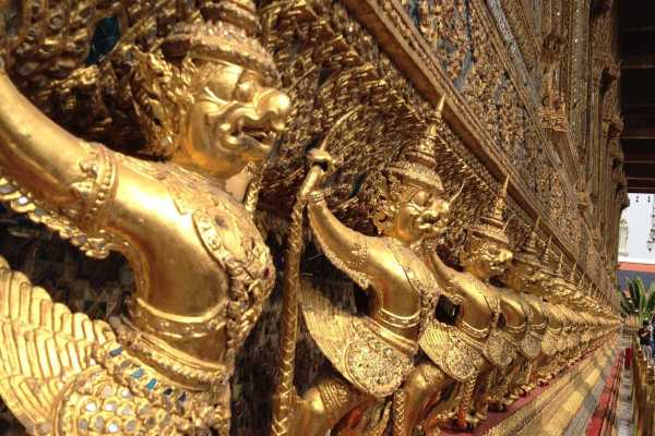 Thai god at Wat Arun, Bangkok, Thailand