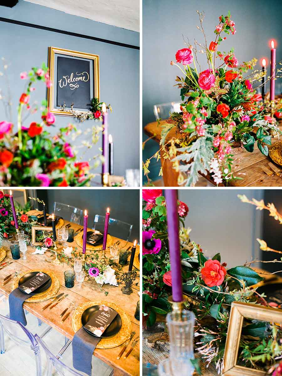 Old Masters inspired wedding reception at The George in Rye
