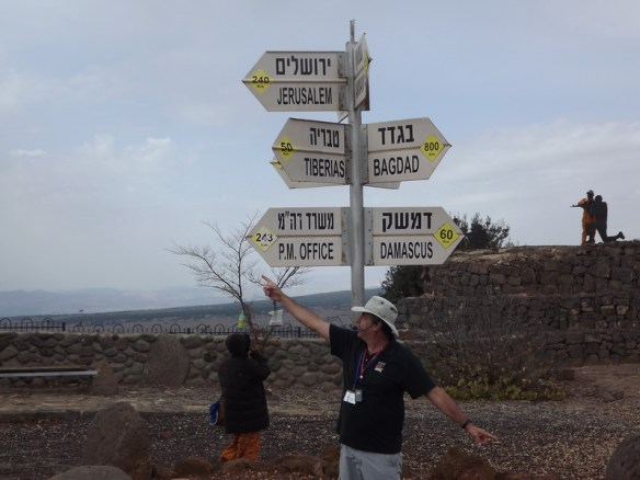 Our guide, Rafi, on Mt. Bental