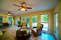 Sunroom addition is gorgeous! Check out the Italian tile ...