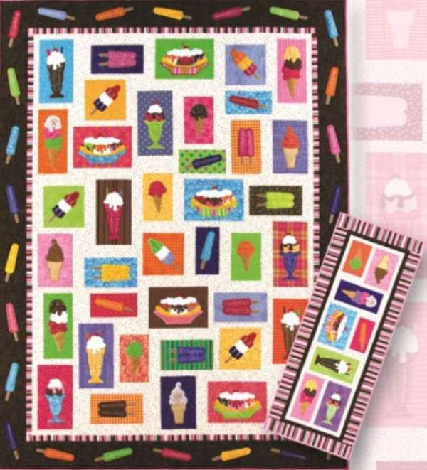 Embroidery Pattern Ice Cream Lunch Box Quilts Sewing Designs Design
