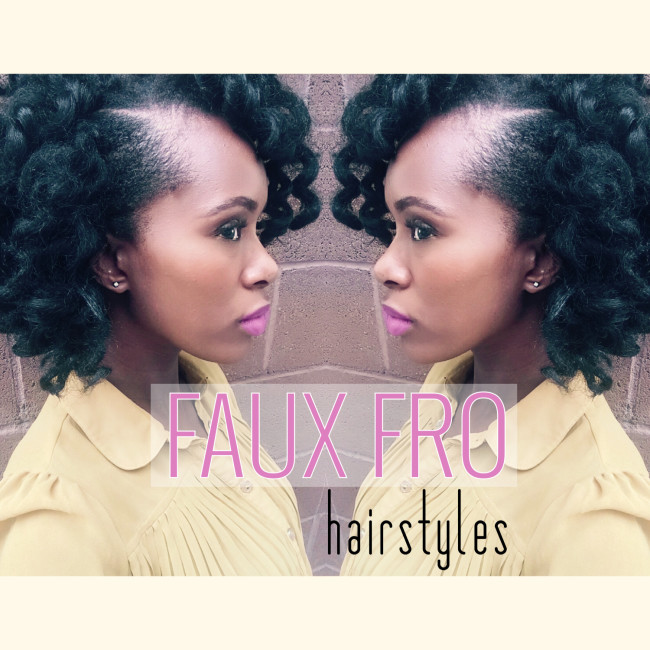 faux fro hair styles featured image