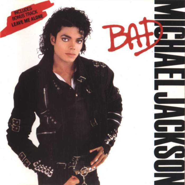 michael jackson bad album cover