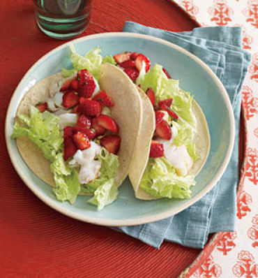 fish tacos with strawberry salsa self magazine 6 sweet suppers