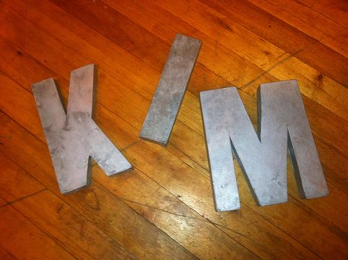 kim letters anthropologie zinc letters