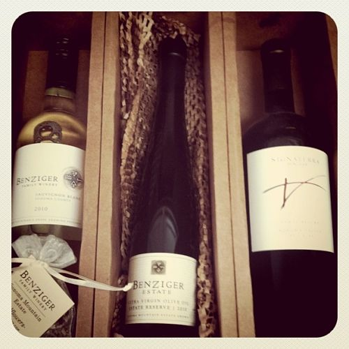benziger family winery three blocks red olive oil and sauvignon blanc