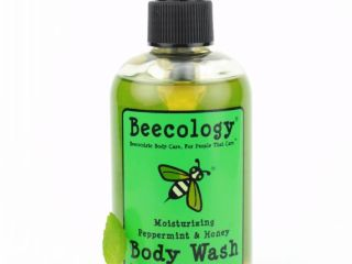 beecology natural honey and peppermint body wash