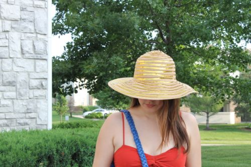 kimberlyloc charming charlie's gold sequin floppy hat