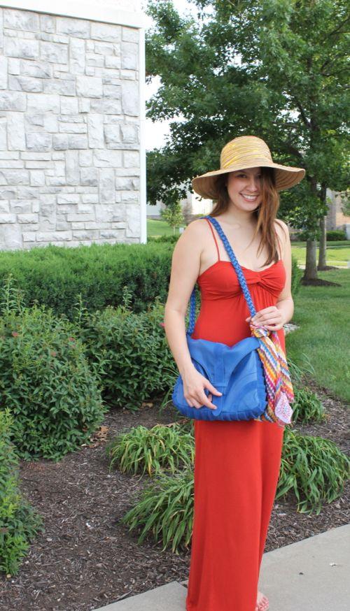 kimberlyloc tangerine maxi dress emberskye bag