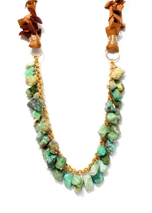 amanda sterett talia tan leather necklace